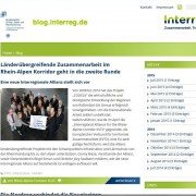 Screenshot Interreg-Blog