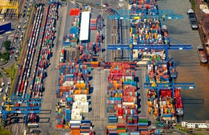 Container handling stable, China business is growing (Image: logport I in Duisburg-Rheinhausen) © Hans Blossey